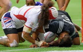 All Black  Sevens player Dylan Collier in action against thr USA.