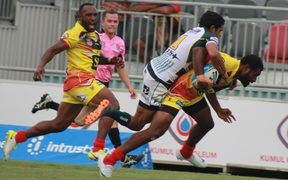 The PNG Hunters in action against the Ipswich Jets.