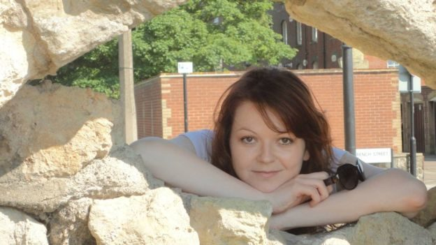 Yulia Skripal was found on the bench alongside her father.
