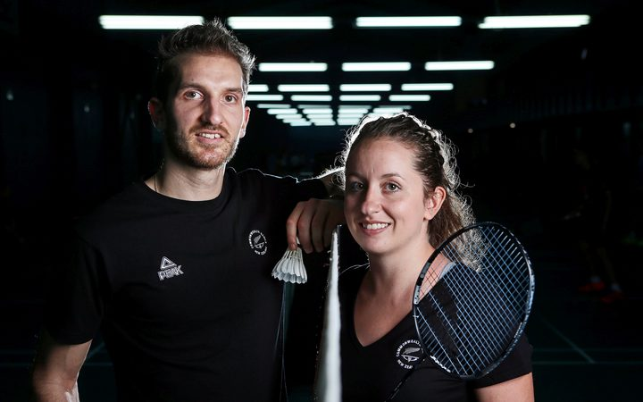 Brother and sister mixed doubles badminton pair Oliver and Susannah Leydon-Davis.