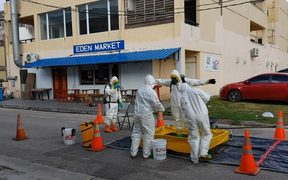 CNMI police check for meth fumes.