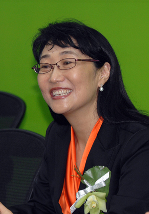 Taiwan's High Tech Computer Corporation (HTC) chairperson Cher Wang