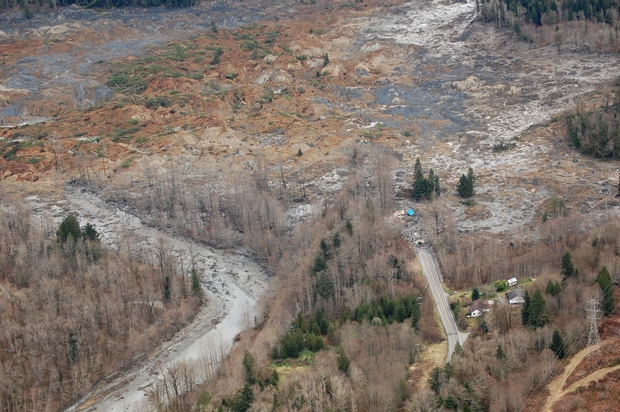 Part of the disaster scene at Oso.