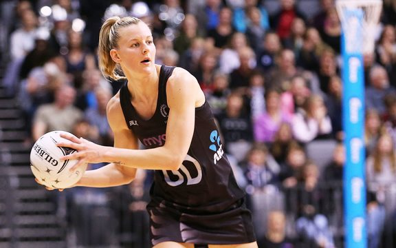 Silver Ferns captain Katrina Grant during the Taini Jamison Trophy international netball match against England in 2017