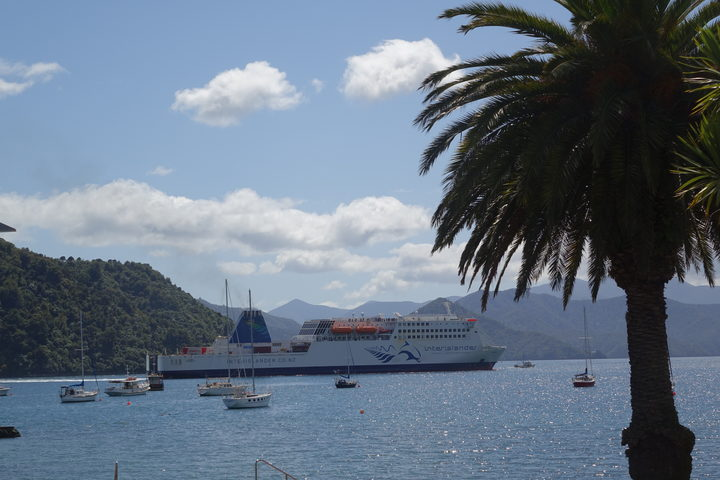 The Interislander Ferry at Picton.