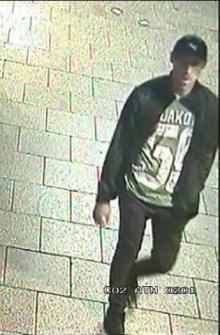 A CCTV picture of the man police are trying to locate.