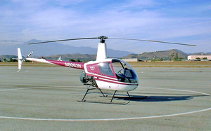 The Robinson R22 helicopter.