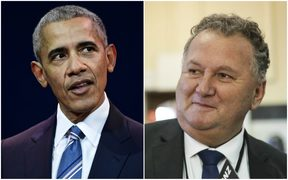 Barack Obama and Shane Jones