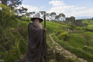 "Ian McKellen as Gandalf in ""The Hobbit: An Unexpected Journey"" which premiered in Wellington in 2012."