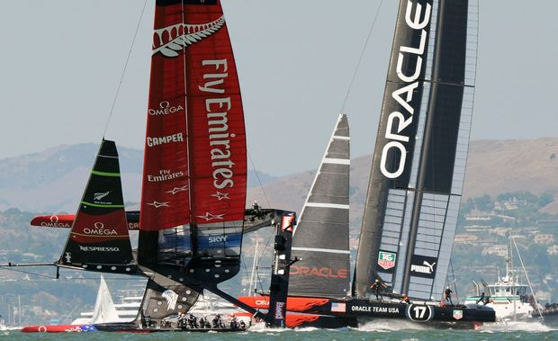 Emirates Team New Zealand battled it out against Oracle Team USA in 2013 but lost the series.