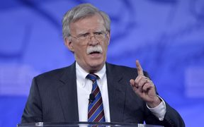 (FILES) This file photo taken on February 24, 2017 shows former US Ambassador to the UN John Bolton speaking to the Conservative Political Action Conference (CPAC) at National Harbor, Maryland.