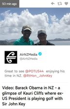 TVNZ recycles a tweet from Barack Obama's sponsor as news.