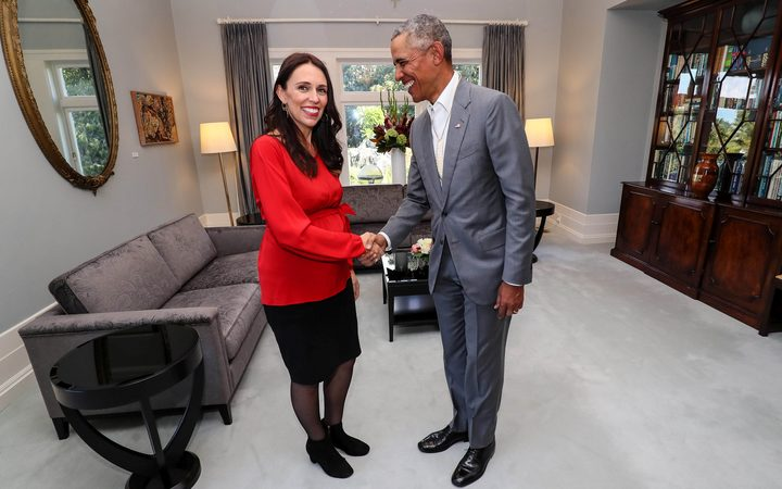 Obama shares parenting tips with Jacinda Ardern