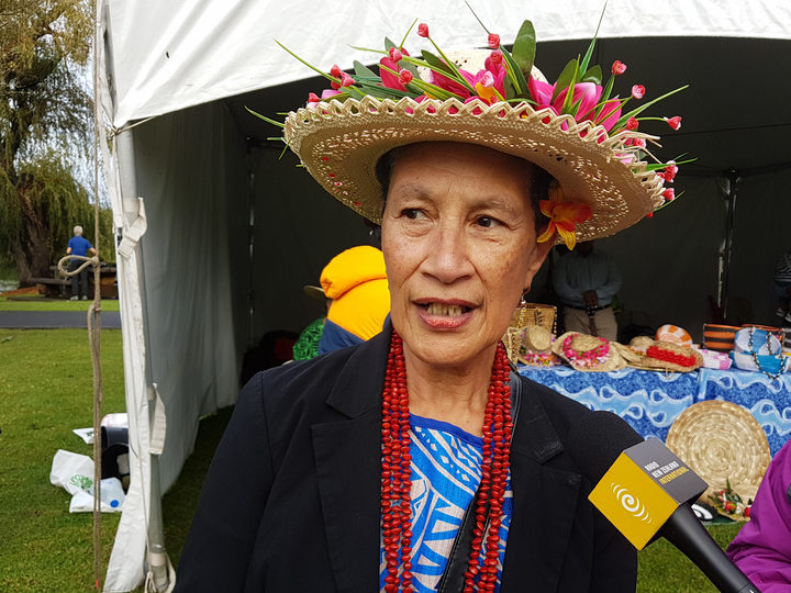 Supporter of the Niue village at Pasifika Festival 2018, Sally Ikinofo