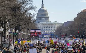 Thousands gather at the March for Our Lives rally in Washington, DC.