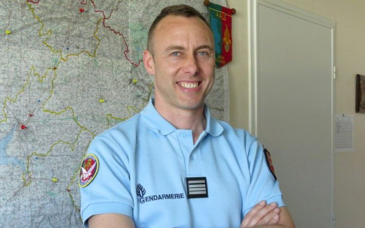 French Lieutenant Colonel Arnaud Beltrame, who was killed after swapping himself for a hostage in a rampage and siege in the town of Trebes, southwestern France.