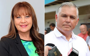National MP Mark Mitchell (R) said NZ First MP Jenny Marcroft told him over the weekend to stop supporting a project in his Rodney electorate if he wanted it to get public funding.