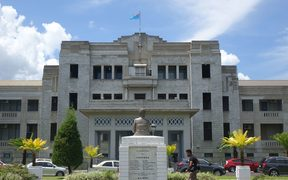 The front of Fiji's parliament buildings in Suva.