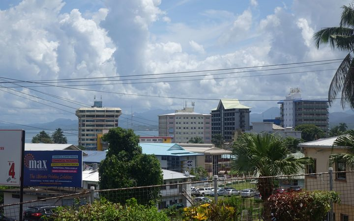 The skyline of Fiji's capital, Suva.