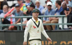 David Warner fielding during the controversial third test against South Africa.