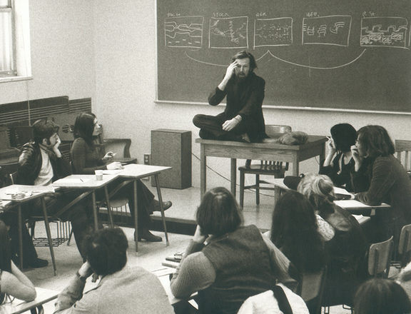 R Murray Schafer teaching a the University of Montreal in 1971