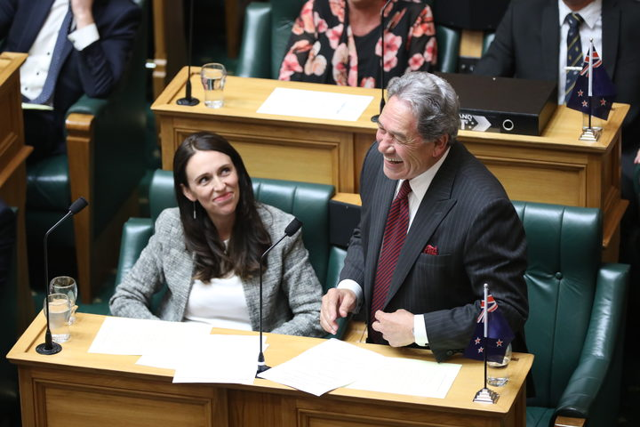 Prime Minister Jacinda Ardern (left) and Deputy Prime Minister Winston Peters (right) in the House. March 27 2018
