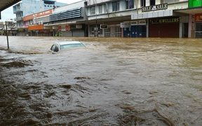 Major flooding in Ba, Fiji.