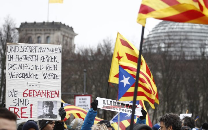 Protesters call for Puigdemont's release in Berlin