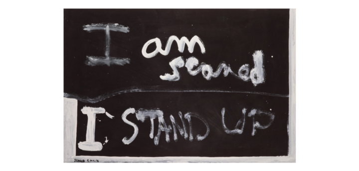 Scared, 1976, Auckland, by Colin McCahon. Purchased 2008 by Te Papa.