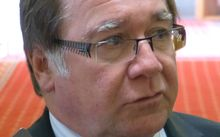 Murray McCully talking to reporters at Parliament on Monday.