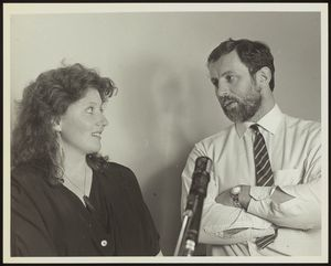 Geoff Robinson and Maggie Barry in the mid 1980s.