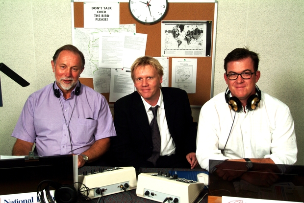 Geoff Robinson, Morning Report Editor Martin Gibson and Sean Plunket, 2006.