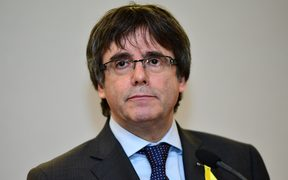 Catalonia's former leader Carles Puigdemont in December 2017.