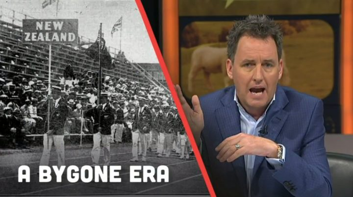 Mike Hosking runs down the Commonwealth Games on TVNZ in 2017.