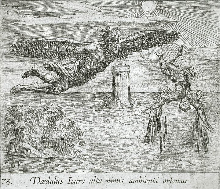 The Fall of Ikarus, by Wilhelm Janson. (1606)