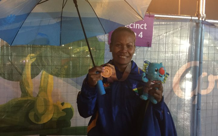 Weightlifter Jenly Wini lifted with her Bronze at the Commonwealth Games