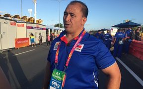 Samoa's Jerry Wallwork at the Commonwealth Games