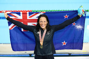 Sophie Pascoe of New Zealand wins gold in the Women's 200m Individual Medly. 2018 Commonwealth Games, Swimming, Optus Aquatic Centre, Gold Coast, Australia. 7 April 2018 © Copyright Photo: Anthony Au-Yeung / www.photosport.nz