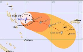 Cyclone Keni threat map issued early Monday morning