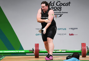 New Zealand's Laurel Hubbard.