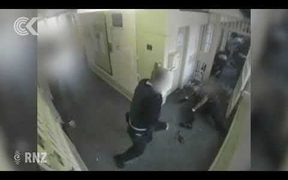 CCTV shows jail attack that led to mass strip search