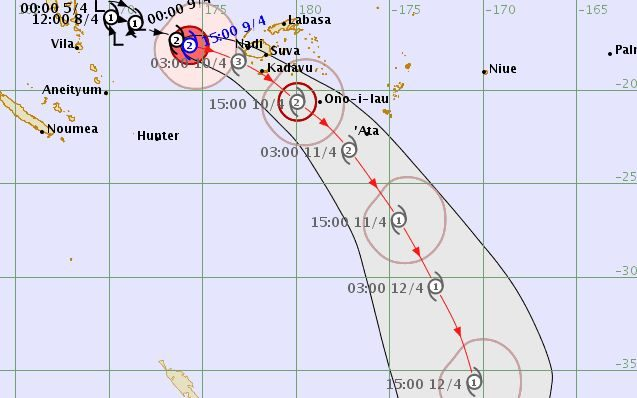 Cyclone Keni expected to intensify on approach to Fiji | RNZ