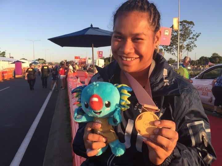 Fiji weightlifter Eileen Cikamatana