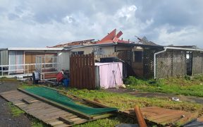 The tornado ripped through Rahotū breaking down fences and ripping roofs off homes.