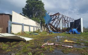 The tornado ripped through Rahotū, breaking down fences and ripping roofs off homes.