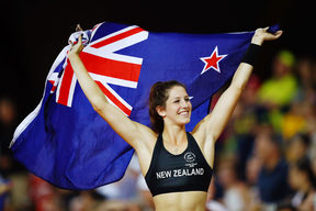 Eliza McCartney of New Zealand wins silver at the Women's Pole Vault Final.