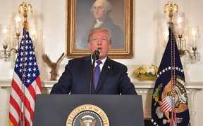 US President Donald Trump addresses the nation on the situation in Syria.