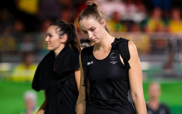 New Zealand defender Kelly Jury of New Zealand looking dejected after losing the bronze medal match to Jamaica.