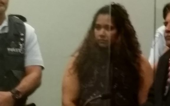 Kasmeer Lata during sentencing at the High Court in Auckland