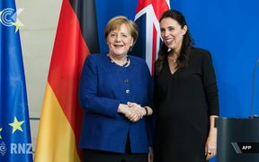 Red carpet for Ardern before 'wonderful' meeting with Merkel: RNZ Checkpoint